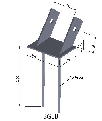 BGLB to connect glulam beams