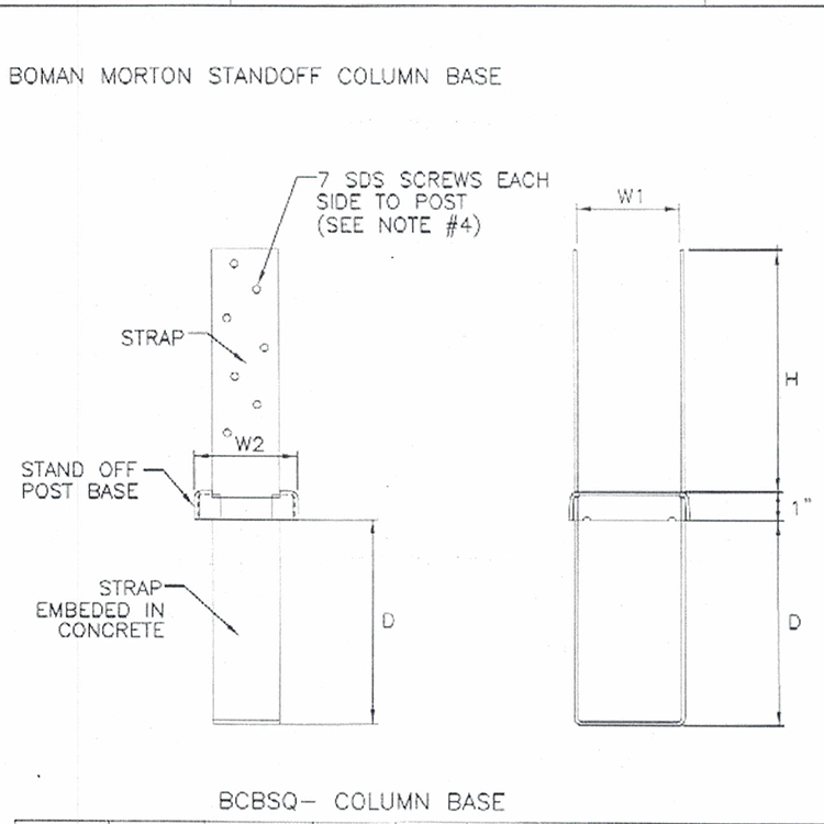 BCBSQ Column base
